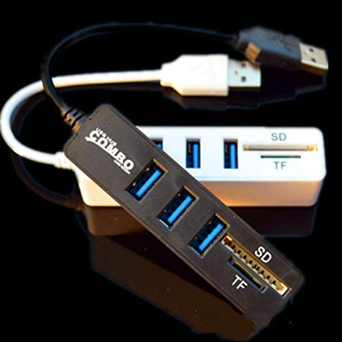 2 in 1 Combo 3 Port USB 2.0 HUB Splitter Card Reader for SD TF Micro-SD for PC Laptop Peripherals Accessories