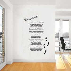 Footprints in the Sand Giant Wall Art Sticker Wall Art Mural Giant & Amazon.com: Footprints in the Sand Giant Wall Art Sticker Wall Art ...