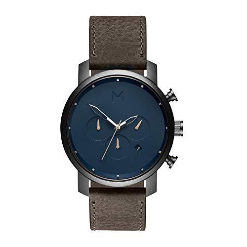 MVMT Chrono Watches | 45 MM Men's Analog Watch Chronograph | Matte Blue - Men Bronze Watches