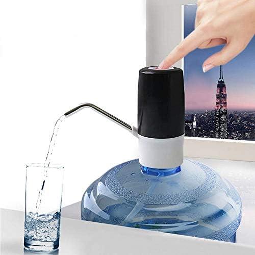 電気水ボトルポンプ、ポータブルUSB充電自動飲料水ディスペンサー、1つのボタン操作、ユニバーサル2-5ガロン用連続ポンプingモード飲料水ポンプ