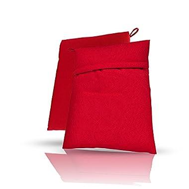 10  Reusable Microwave Potato Bag Baker 4-minute Corn Cooker Bag, Set of 2 in Red