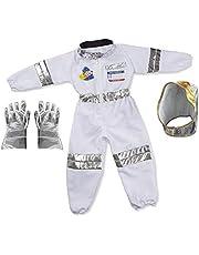 A-A Astronaut kostuum kinderen, met astronaut helm handschoenen, unisex space kostuum rollenspel kit voor Halloween cosplay carnaval verjaardagsfeest