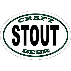 ION Graphics Beer Decal – Craft Brew Stout Beer Vinyl Sticker – Beer Bumper Sticker – Craft Beer Decal – Stout Beer – Beer Gift – Made in The USA Size: 4.7 x 3.3 inch