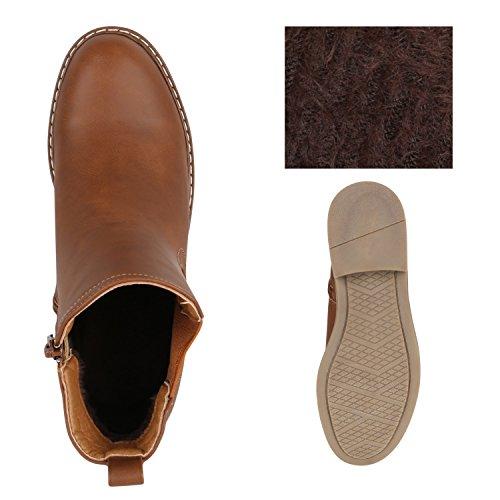 a78e1ddf9ee5 ... Stiefelparadies Damen Stiefeletten Glitzer Chelsea Boots Leder-Optik  Blockabsatz Schuhe Knöchelhohe Stiefel Übergrößen Gr.