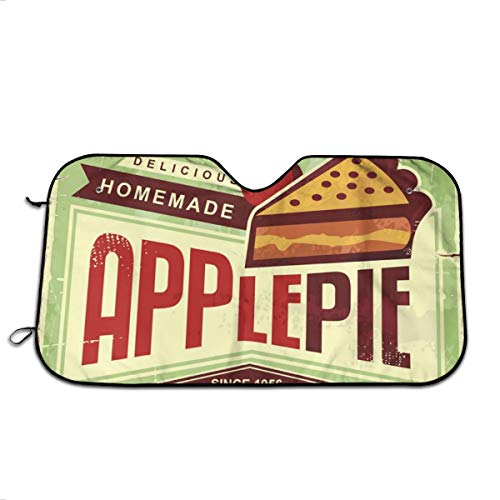 Delicious Homemade Apple Pie Retro Promotional Adv Car Windshield Sun Shade Car Window Shade Front Windshield Side Window Car Sun Shades For General Models Such As Cars And SUVs Keep Your Vehicle Cool