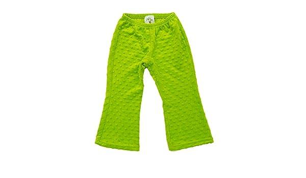 Cheeky Banana Little Girls Minky Dot Pant Lime