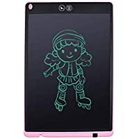 """LCD 12"""" writing tablet with dual erase (full and selective) (Pink)"""