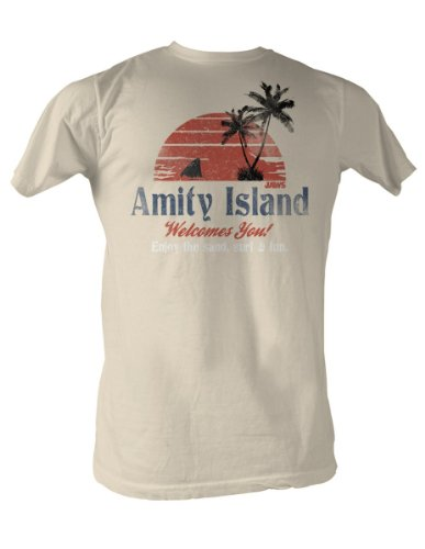 Jaws Amity Island Mens T-Shirt S