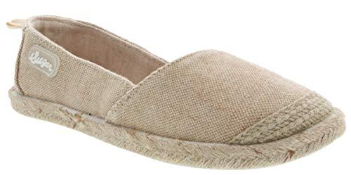Sugar Women's Gadjet Laceless Slip-on Fashion Sneaker, Natural Metallic Linen, 9 M US