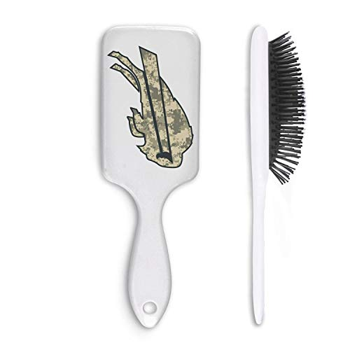 For Football Fans Army Camo White Cushion Bristles Pin Hairbrush Detangling Brush Comb Reducing Hair Breakage Adding Shine Mens Womens Kids Girl for Hair Straightening & Smoothing for Wet Dry hair ()