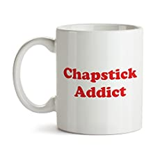 Chapstick Addict mug This coffee cup is sure to deliver a huge smile every trip to the coffee station!  Special Sale Right Now Usually sells for $19.95 - order now to get the best possible price! The best gifts are both personal and functional, and t...