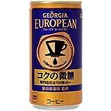 コカ・コーラ ジョージア ヨーロピアン コクの微糖 缶 コーヒー 185g×30本