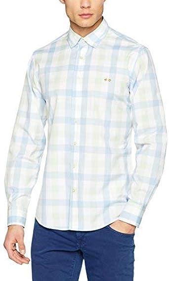 Spagnolo cm Cuello Boton Popelin 0025, Camisa Casual Para ...