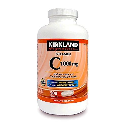 【お徳用】カークランド ビタミンC (バラの実入り)500粒入~海外直送品~ B0008F6LE6