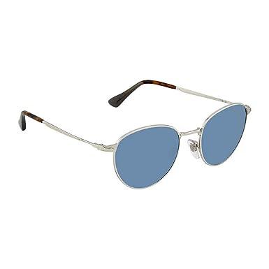 82a4bee9d1e61 Amazon.com  Persol PO2445S 518 56 Silver PO2445S Round Sunglasses ...
