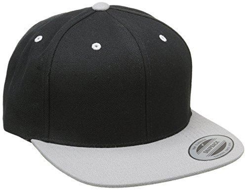 Flexfit Erwachsene Mütze Classic Snapback 2-Tone, Blk/Silver, One size, 6089MT
