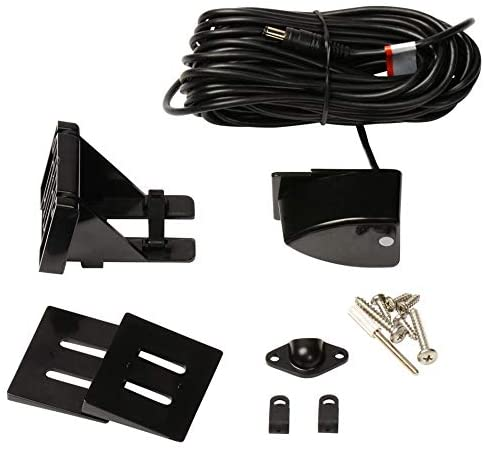 Includes Airmar Transom Mount Transducer HawkEye DT2BX-TM In-Dash Depth Sounder with Air and Water Temperature
