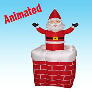 5 foot animated christmas inflatable santa for Amazon christmas lawn decorations