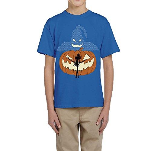 Zhen Kids Halloween Pumpkin King O-Neck Tees XL]()