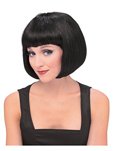 Rubie's Women's Black Super Model Wig, Black, One Size ()