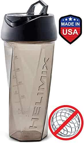 Helimix Vortex Blender Shaker Bottle 28oz   No Blending Ball or Whisk Needed   Best Portable Pre Workout Whey Protein Drink Shaker Cup   Mixes Cocktails, Smoothies and Shakes   Dishwasher Safe