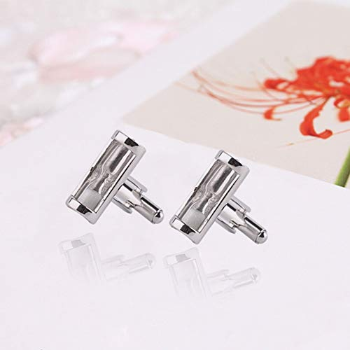 Da.Wa Time Hourglass Pattern Cuff Links Men's Business Wedding Cufflinks Set by Da.Wa (Image #8)