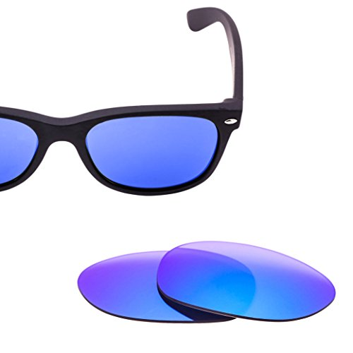 LenzFlip Replacement Lenses for Ray Ban New Wayfarer RB2132 - Gray Polarized with Blue Mirror, - Raybans Amazon