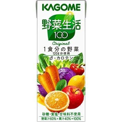 [Kagome] vegetables life 100 Original 200ml (24 pieces x4 case) 96 pieces