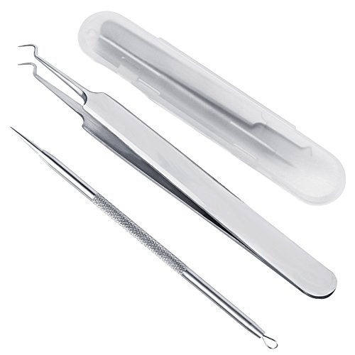 Blackhead Remover Comedone Blackhead Extractor Tweezers Acne Removal kit by Aignis Removal Tweezer