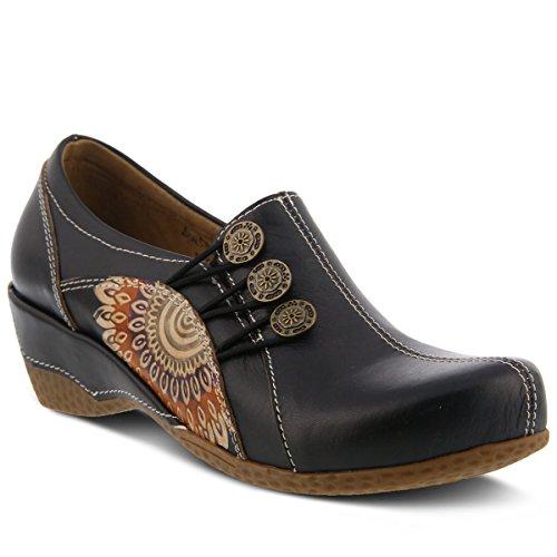 Shoe Colors Designs Loafer Tan L' Agacia Featuring On artiste Black and Teal Slip Embossed Black U4nOInBx