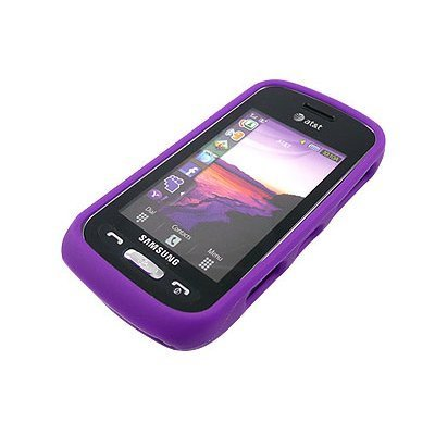 Silicon Skin PURPLE Rubber Soft Cover Case for Samsung Solstice A887 AT&T [WCM133] Samsung Solstice Case Cover