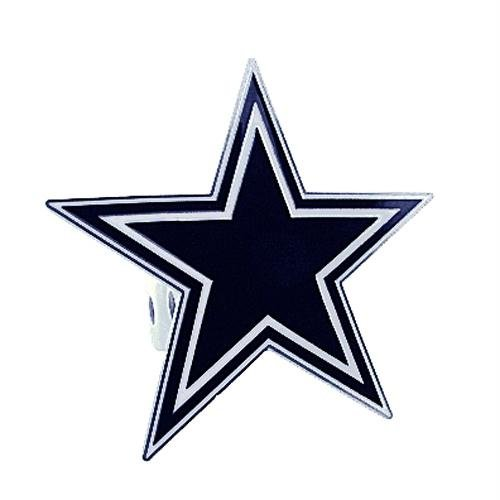 Siskiyou NFL Dallas Cowboys Large Hitch Cover Class II & Class III Metal Plugs, Large, Blue
