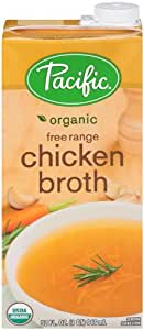 Pacific Foods Organic Free Range Chicken Broth, 32-Ounces Cartons, 12-Pack