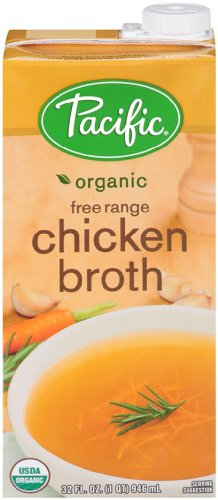 Pacific Foods Organic Free Range Chicken Broth, 32-Ounces Cartons, 12-Pack (Pacific Chicken Stock compare prices)