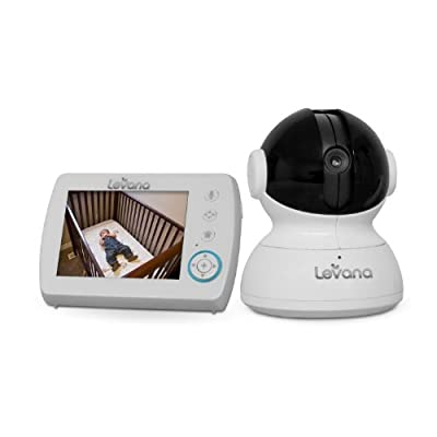 "Levana Astra 3.5"" PTZ Digital Baby Video Monitor with Talk to Baby Intercom 32006 (White) by Levana"