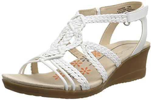 BareTraps Women's Takara Sandal, White, 7 Medium US