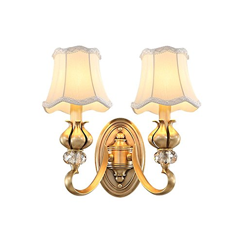 Sconce Brass Porcelain (Industrial Vintage Wall Sconces The Brass Light Wall lamp Corridor Passage Background Wall in The Living Room Bedroom Bed)