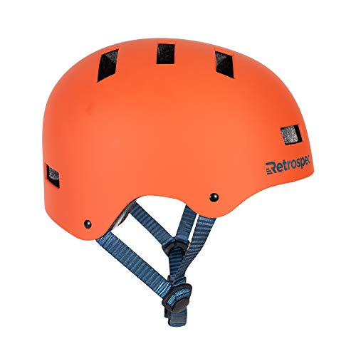 Retrospec CM-1 Bicycle / Skateboard Helmet for Adult CPSC Certified Commuter, Bike, Skate, Matte Burnt Orange, Medium: 55-59 cm / 21.75