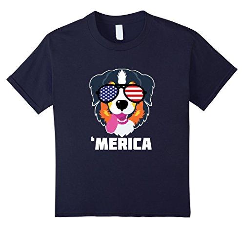 Kids Australian Shepherd T Shirt American Flag Sunglasses TShirts 12 - Australian Sunglasses Kid