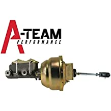 """A-Team Performance 8"""" Brake Booster & Master Cylinder Kit Compatible With 1964-1972 GM CHEVELLE A-Body Zinc"""