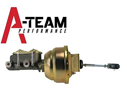 A-Team Performance 8' Brake Booster & Master Cylinder Kit Compatible With 1964-1972 GM CHEVELLE A-Body Zinc BCK1006-8531