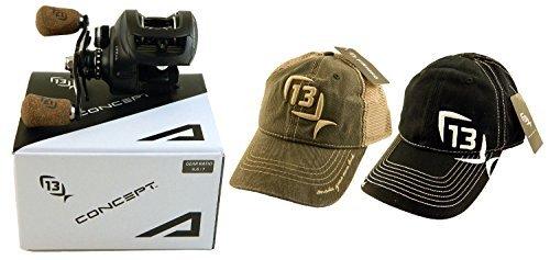Bundle - 13 Fishing Concept A A6.6-RH 6.6:1 Right Hand Baitcast Fishing...