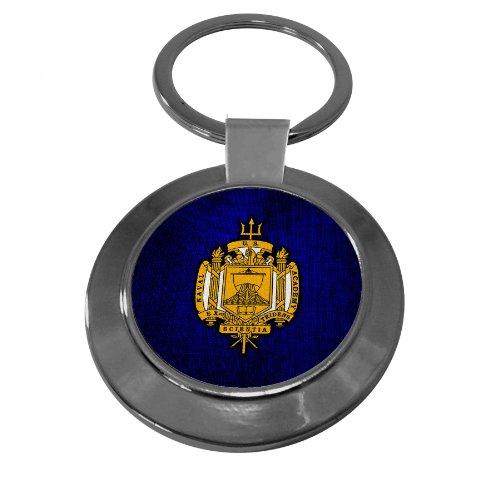 (Premium Key Ring with U.S. Naval Academy (USNA), insignia )