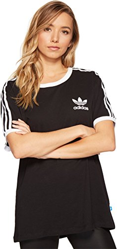 adidas Originals Women's Tops | 3 Stripes Tee, Black/White, Medium Adidas Womens Original Stripe