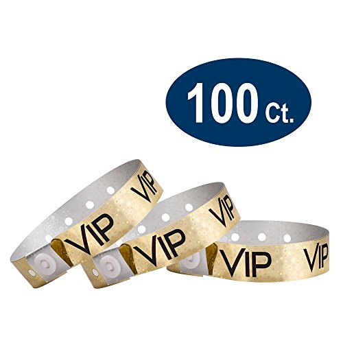 WristCo Holographic Gold Plastic Wristbands product image