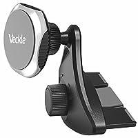 Soporte para teléfono para automóvil, ranura magnética para CD Veckle Soporte para montaje en automóvil Soporte para teléfono con imán fuerte Soporte para teléfono para cuna universal para smartphone iPhone 8 7 6S 6 Plus X Samsung Galaxy S8 S7 Edge Note