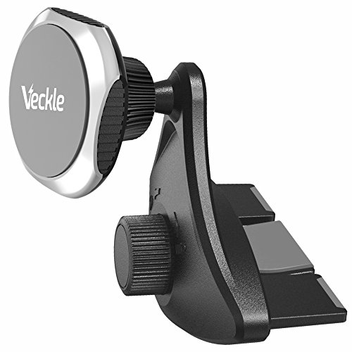 Car Phone Holder, Veckle CD Slot Magnetic Phone Car Mount Holder Strong Magnet Phone Holder for Car Universal Cradle for Smartphone iPhone 8 7 6S 6 Plus X Samsung Galaxy S8 S7 Edge Note 8 5 GPS, Black by Veckle