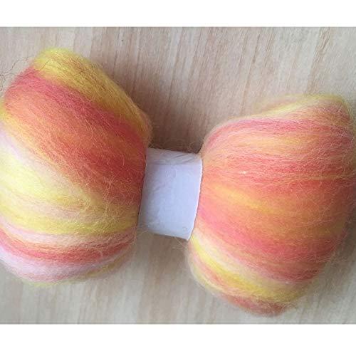 Maslin 100g 150g 200g 300g 500g 50g/Bag Wool Fiber for Felting African Fabrics Wool Roving Doll Needlework Felt DIY - (Color: 300g)