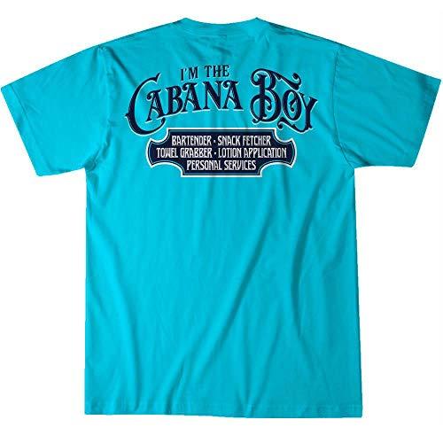 Island Jay I'm The Cabana Boy T-Shirt Lagoon Blue