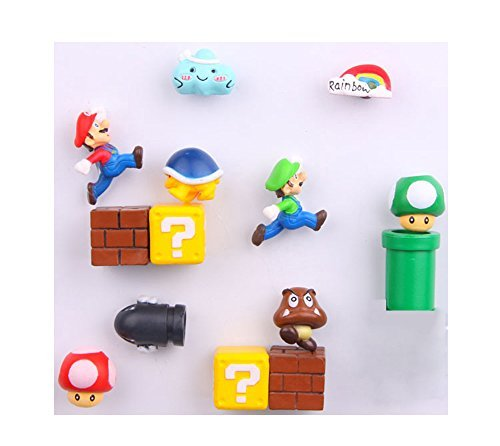 14 Pack Super Mario Fridge Magnets For Kids Decorative Refrigerator Locker Magnets Kitchen School Office Fun Decoration by Brand Q